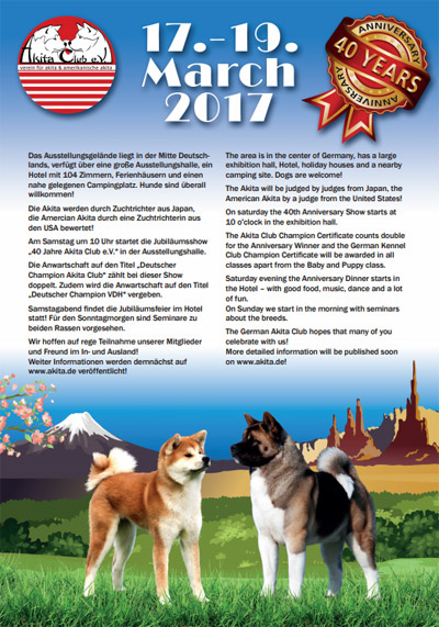 Germany: Akita Club e.V. 40th Anniversary Show-2